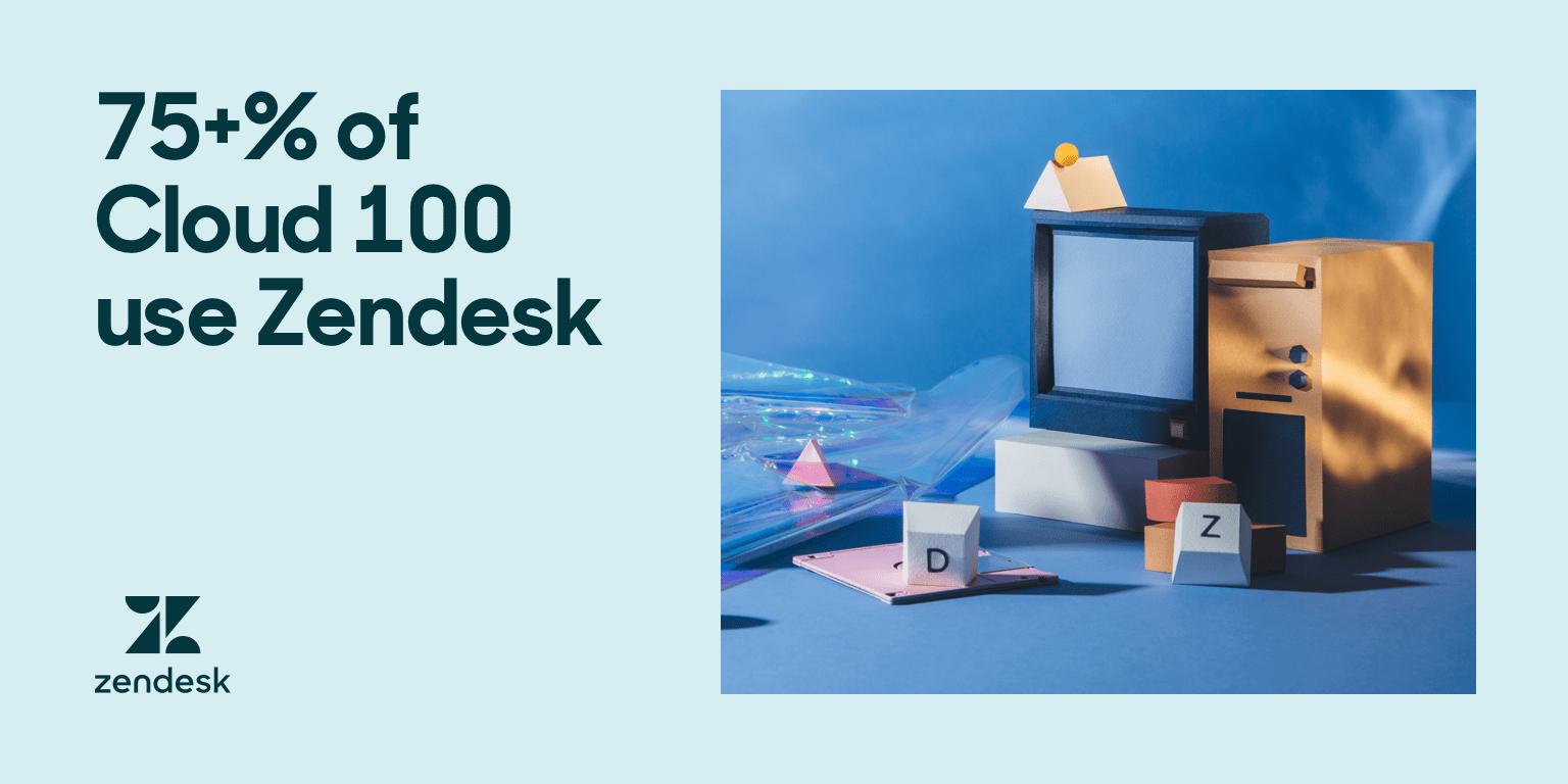 Eine Auswahl von Objekten, die Cloud-Unternehmen repräsentieren, wie z.B. ein Computerturm und ein Fernseher mit kleineren Objekten drum herum